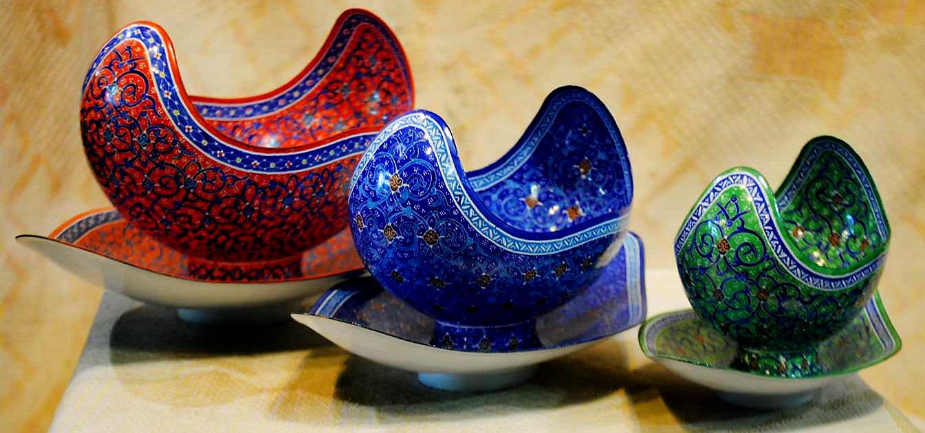 Про Иран: техника росписи минакари. как делают блюда и вазы минакари на сайте bazariran.ru