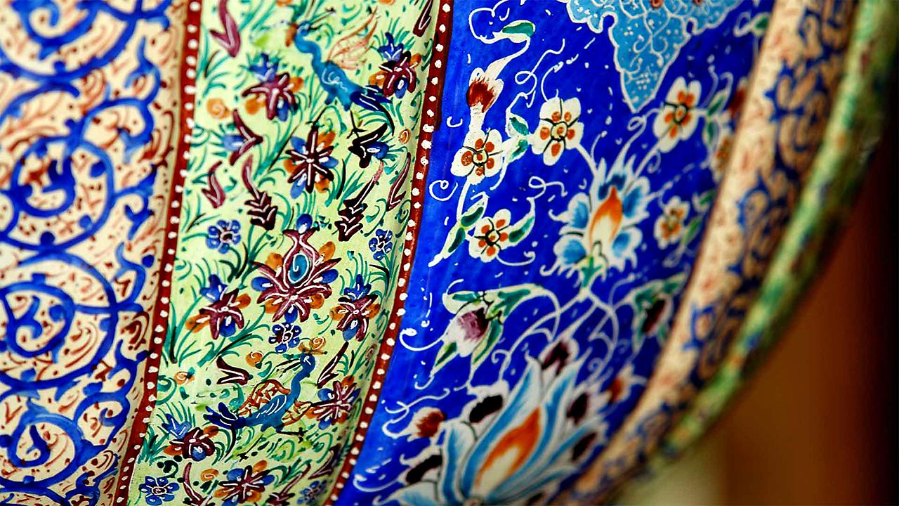 Про Иран: техника росписи минакари. Блюда и вазы минакари на сайте bazariran.ru