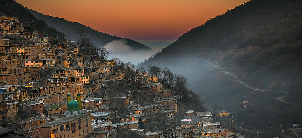 Традиционная деревня Масуле в Иране. Фото в блоге bazariran.ru