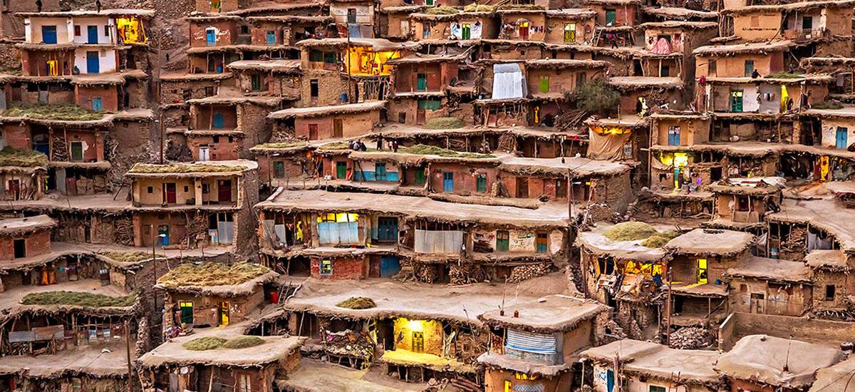 Традиционная деревня Сар ага Сейед в Иране. Фото в блоге bazariran.ru