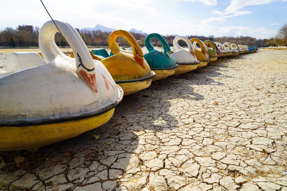 Что посмотреть в Исфахане: пересохшее русло реки Заянде Руд. Про Иран в блоге bazariran.ru