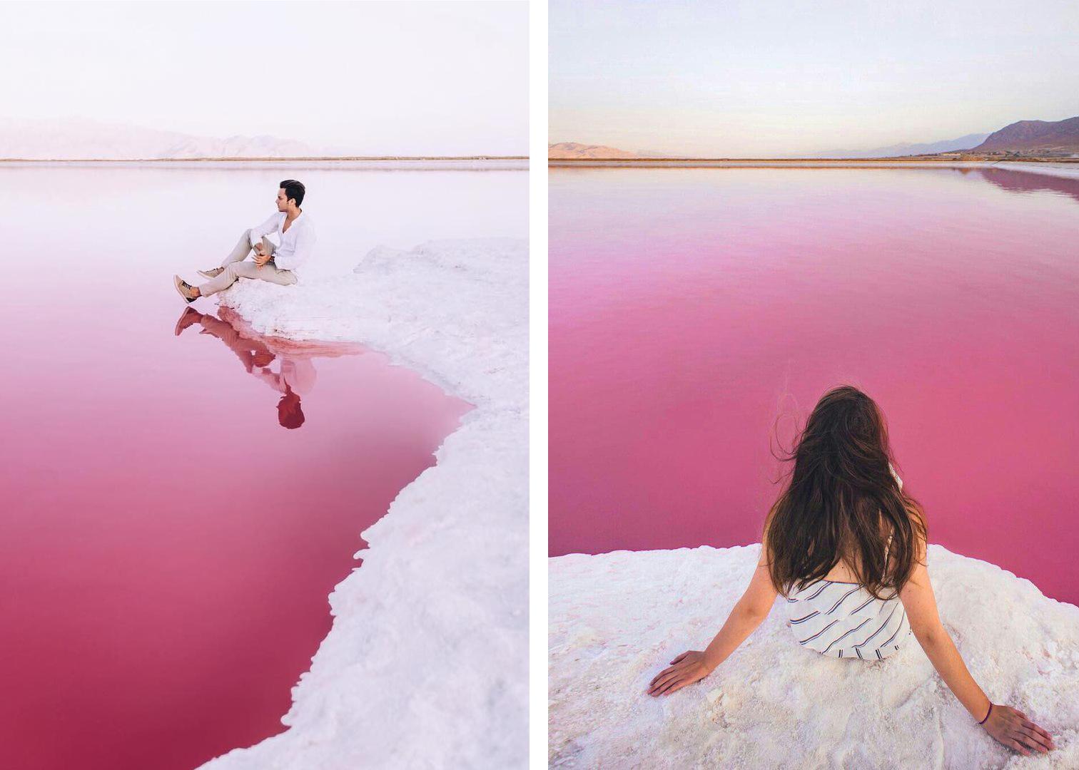 Розовое озеро Махарлу Иран фото для блога bazariran.ru