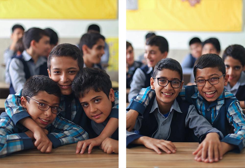Мальчики в иранской школе. Фото для блога bazariran.ru