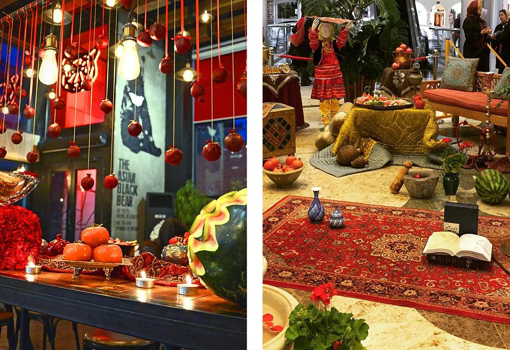 Украшения на праздник ялда в торговых центрах Ирана. Блог про Иран bazariran.ru