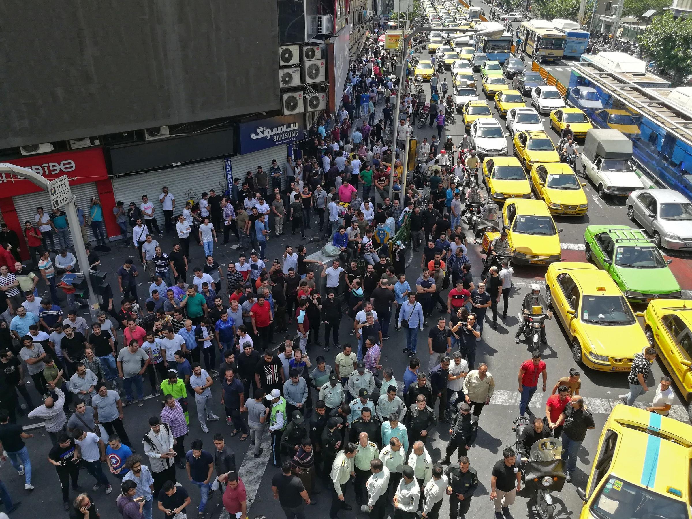 Пробки в Тегеране, Иран