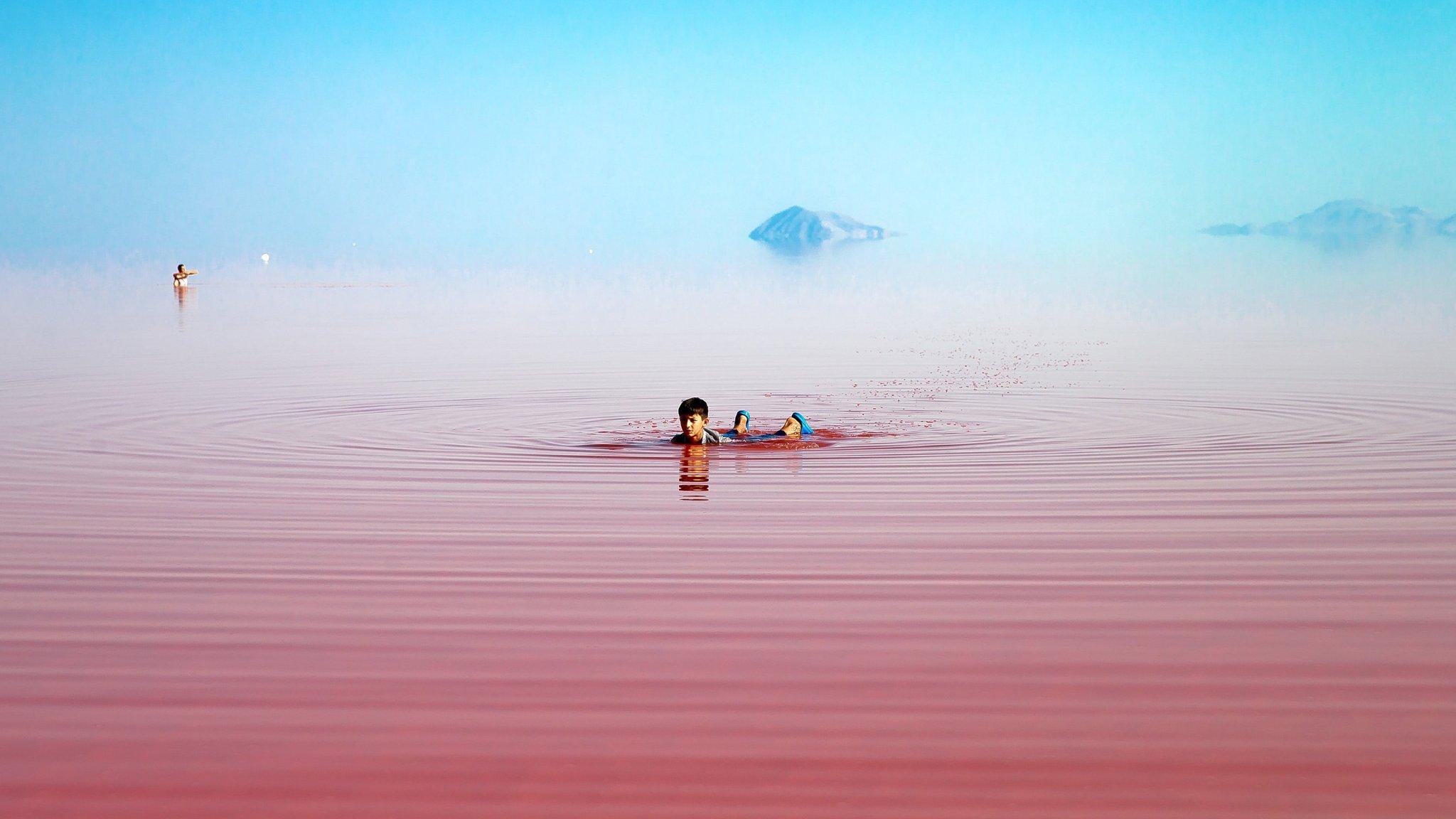 Красное озеро Урмия. Природа Ирана в блоге bazariran.ru